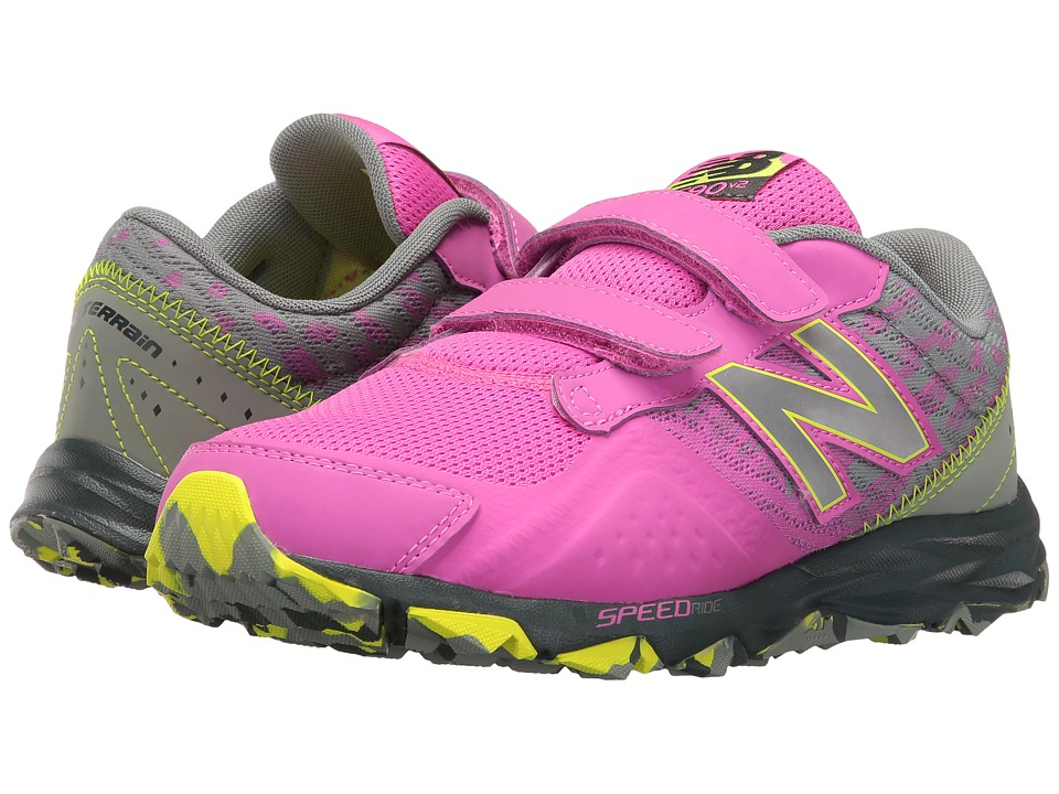 New Balance Kids - KE690V2Y (Little Kid/Big Kid) (Pink/Grey) Girls Shoes