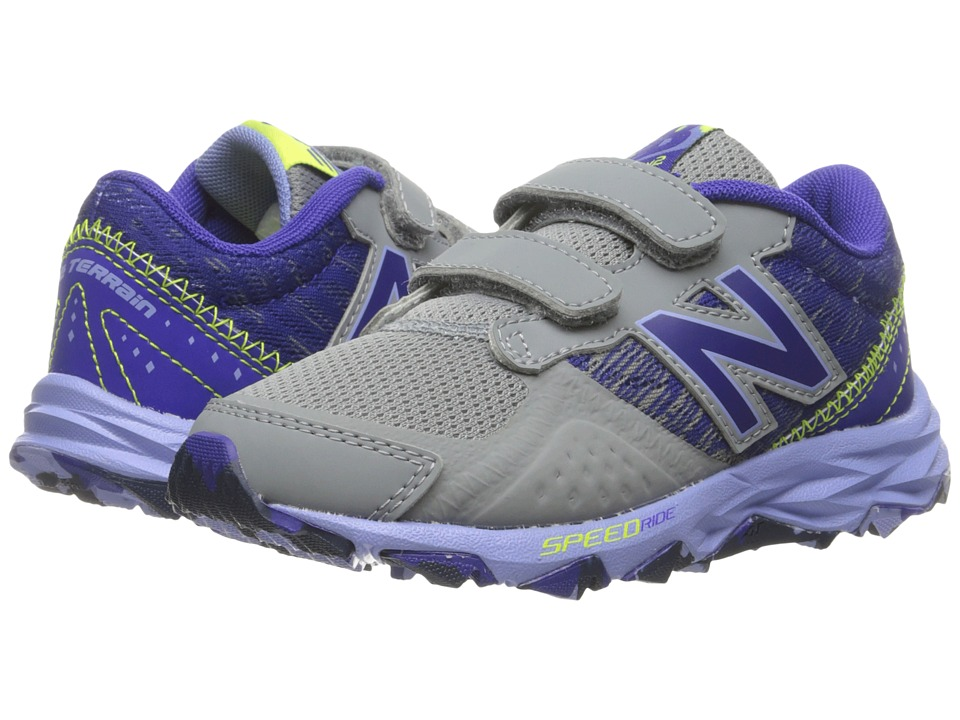 New Balance Kids KE690V2Y (Little Kid/Big Kid) (Grey/Purple) Girls Shoes