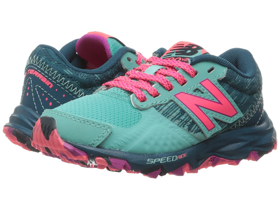 New Balance Kids KT690V2Y (Little Kid/Big Kid) (Green/Pink) Girls Shoes