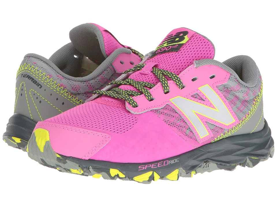 New Balance Kids KT690V2Y (Little Kid/Big Kid) (Pink/Grey) Girls Shoes