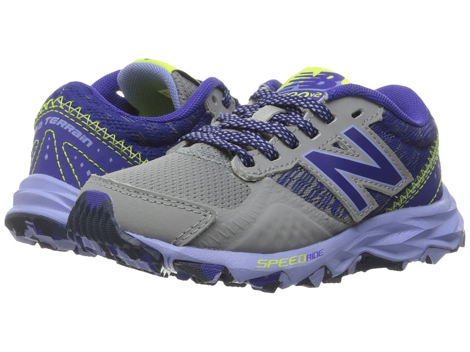 New Balance Kids KT690V2Y (Little Kid/Big Kid) (Grey/Purple) Girls Shoes