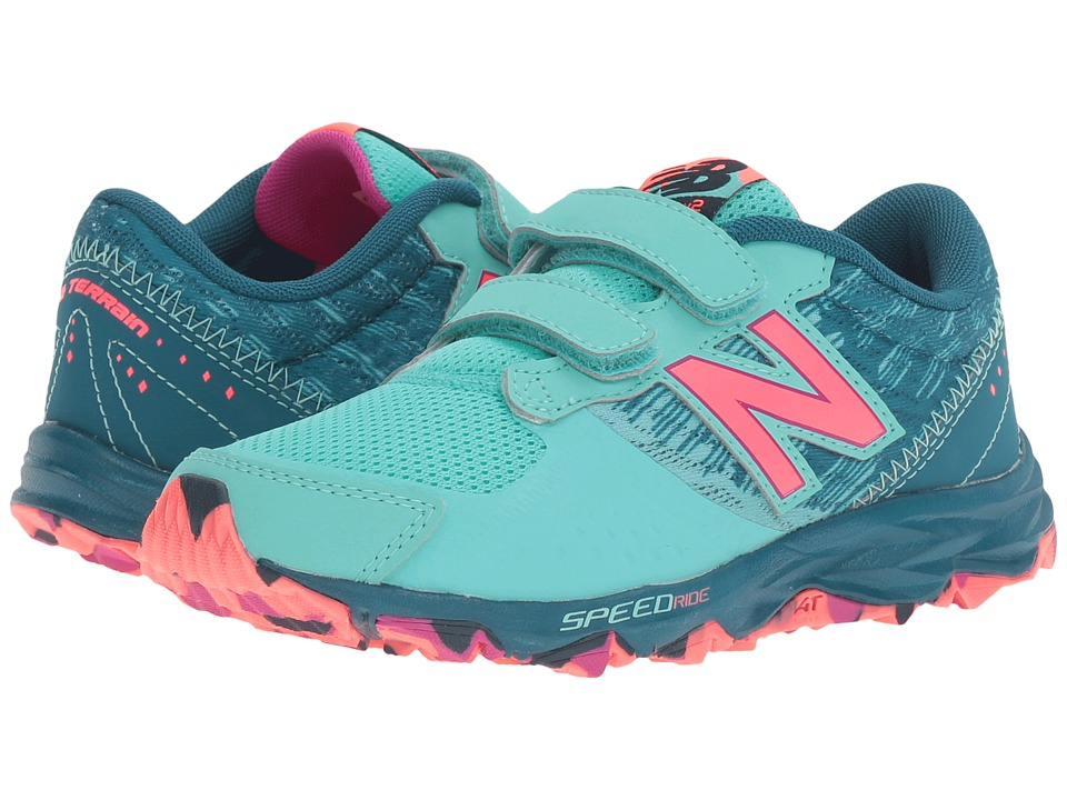 New Balance Kids KE690V2Y (Little Kid/Big Kid) (Green/Pink) Girls Shoes