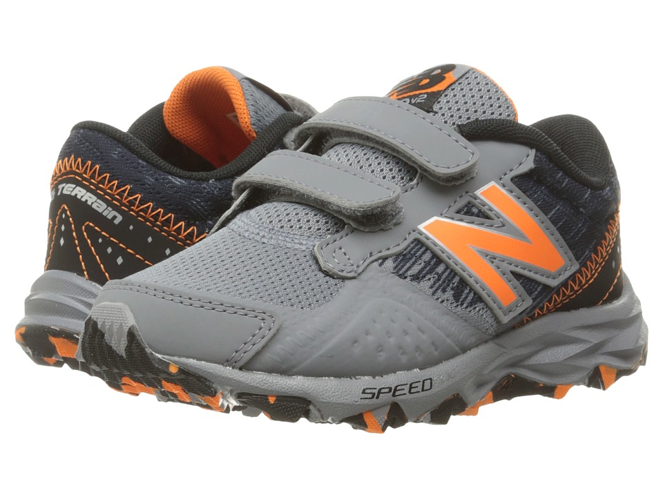 New Balance Kids KE690V2Y (Little Kid/Big Kid) (Grey/Black) Boys Shoes