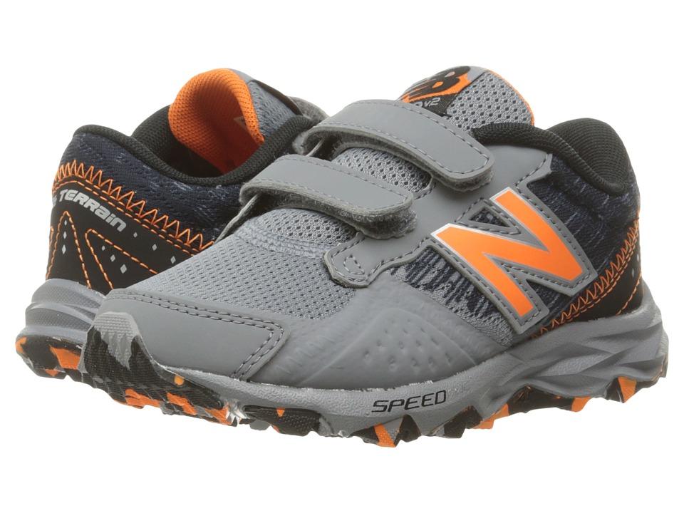 New Balance Kids - KE690V2Y (Little Kid/Big Kid) (Grey/Black) Boys Shoes