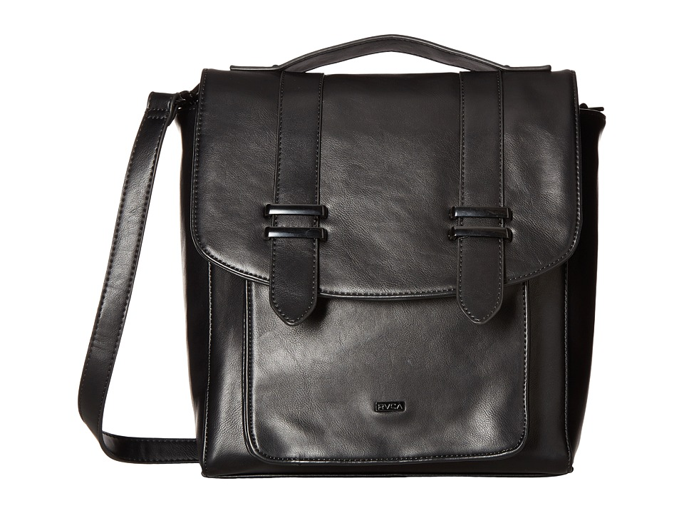 RVCA - Figment Satchel (Black) Satchel Handbags