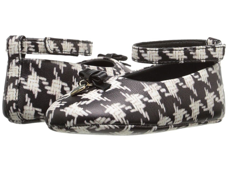 Dolce & Gabbana Kids - City Houndstooth Ballerina Flat (Infant/Toddler) (Black/White) Girls Shoes