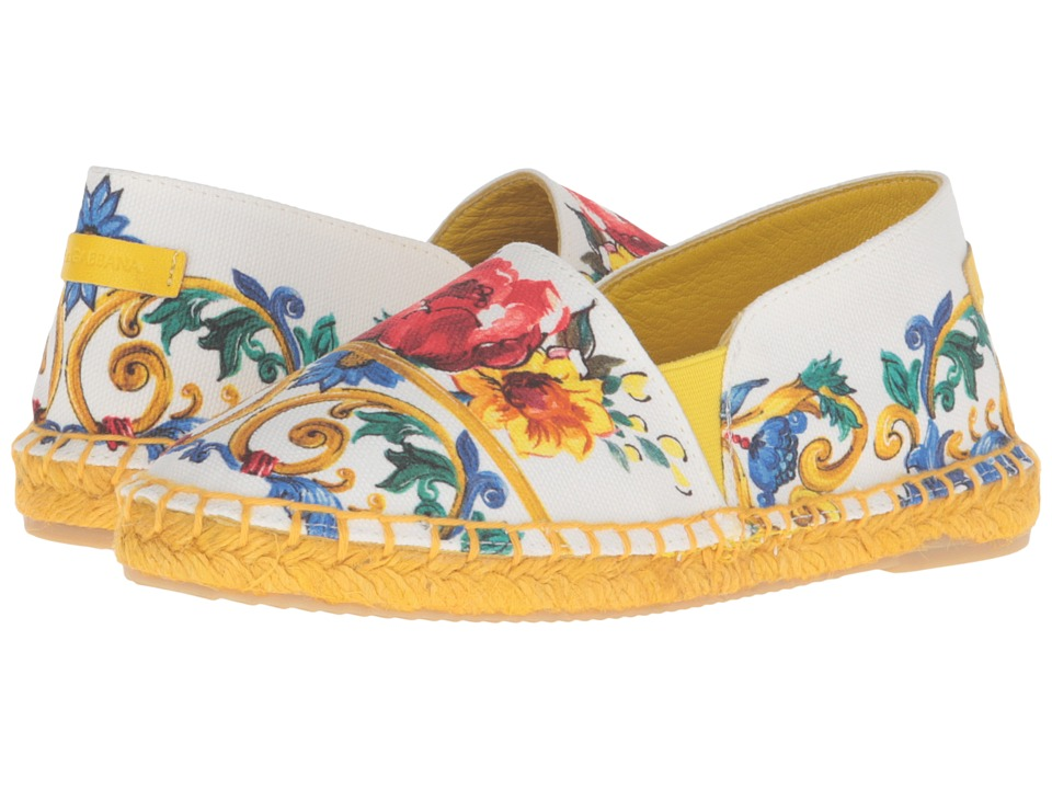 Dolce & Gabbana Kids - Escape Maiolica Bouquet Espadrille (Toddler/Little Kid/Big Kid) (Print) Girls Shoes