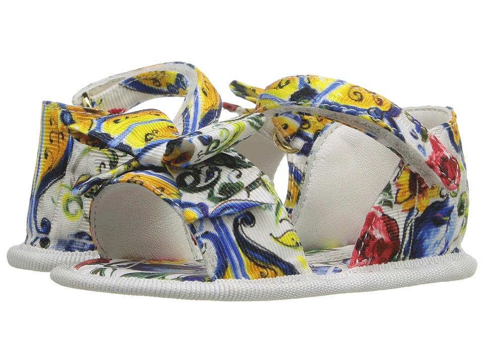 Dolce & Gabbana Kids - Escape Maiolica Bouquet Sandal (Infant/Toddler) (Print) Girls Shoes