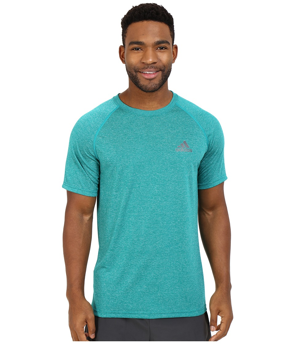 adidas - Ultimate S/S Crew Tee (Equipment Green/Dark Grey Heather) Men's T Shirt