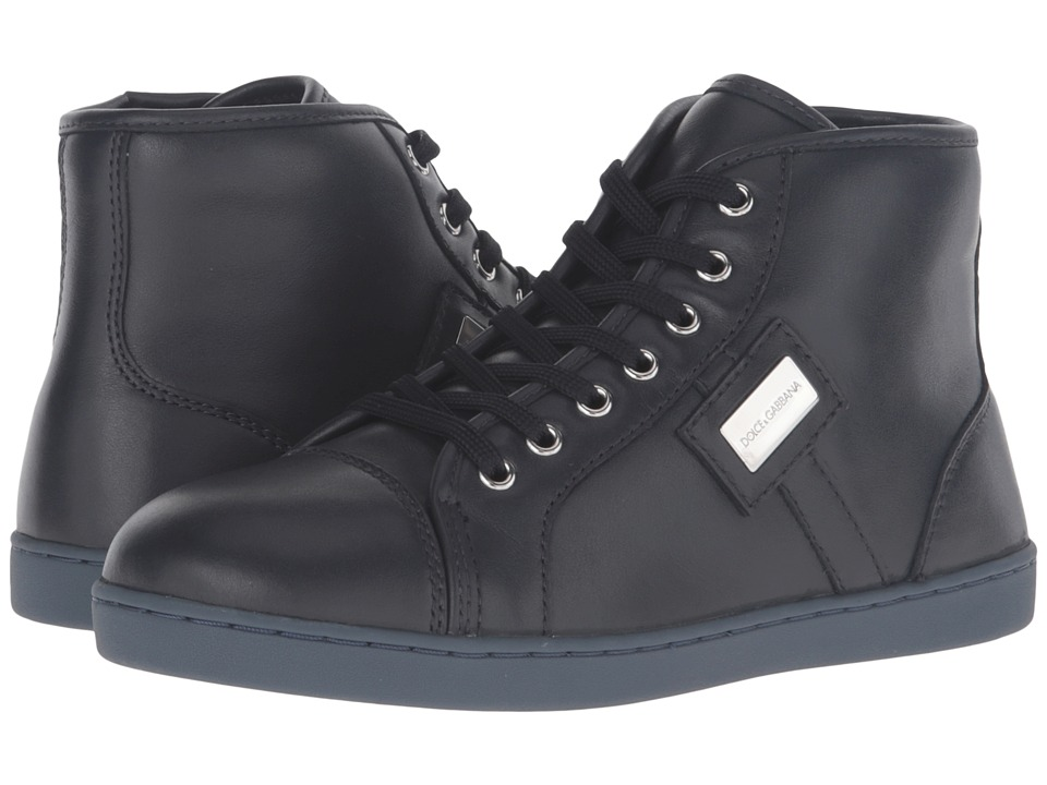 Dolce & Gabbana Kids - City Leather High Top Sneaker (Little Kid/Big Kid) (Military Green) Boy's Shoes