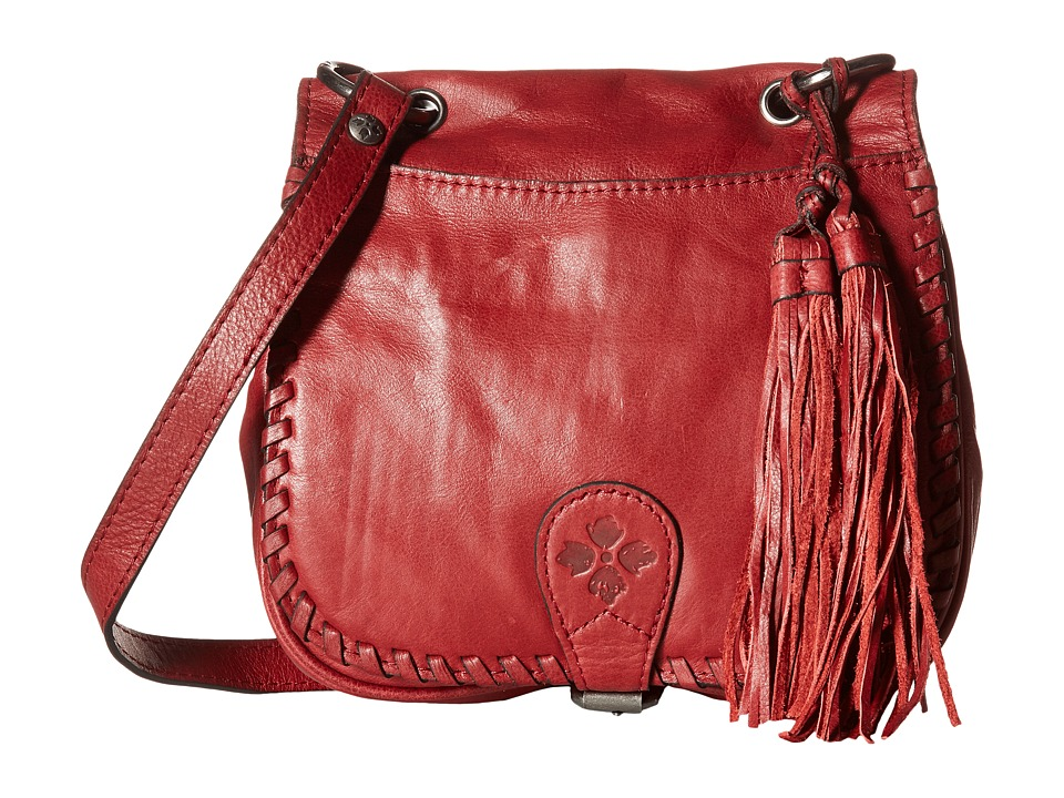 Patricia Nash - Karisa Small Crossbody Saddle Bag (Berry Red) Cross Body Handbags