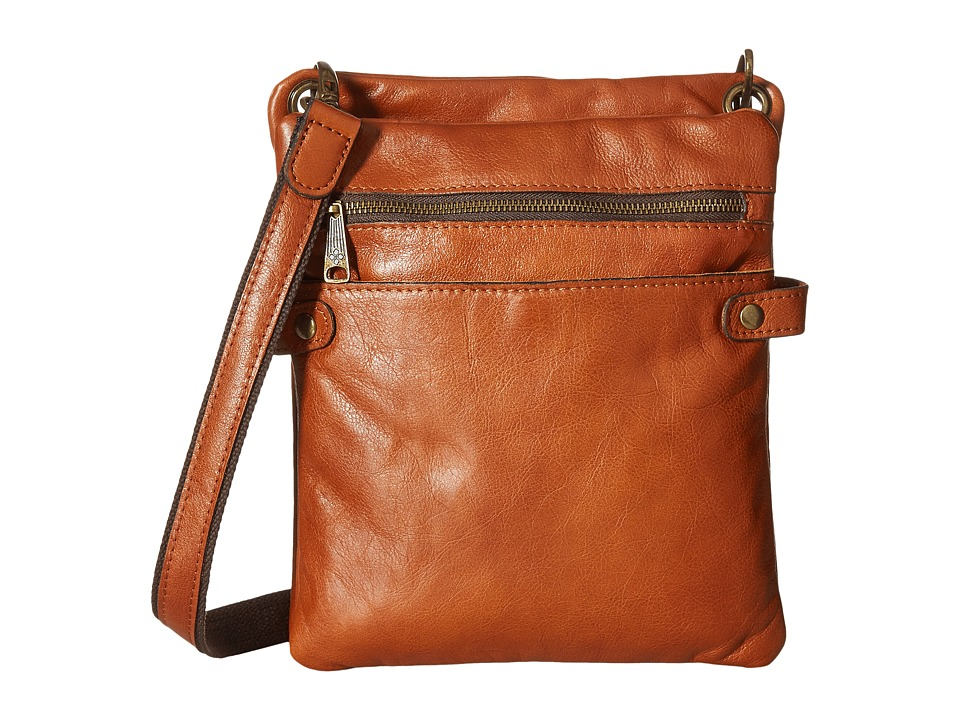 Patricia Nash - Francesca Organizer Sling Crossbody (Tan) Cross Body Handbags