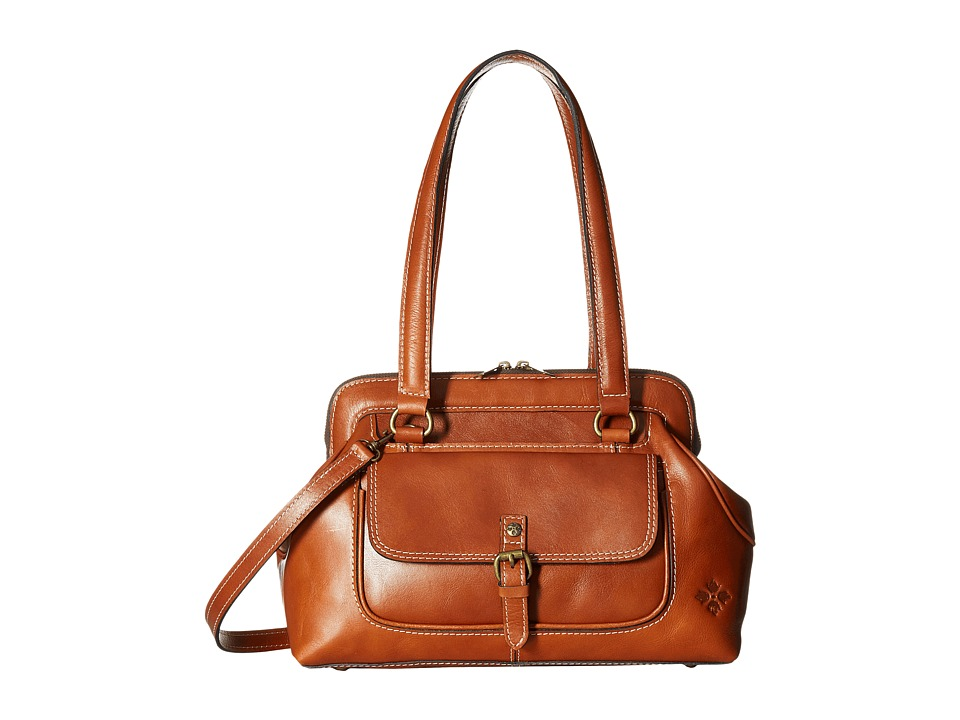 Patricia Nash - Gianna Frame Satchel (Tan) Satchel Handbags