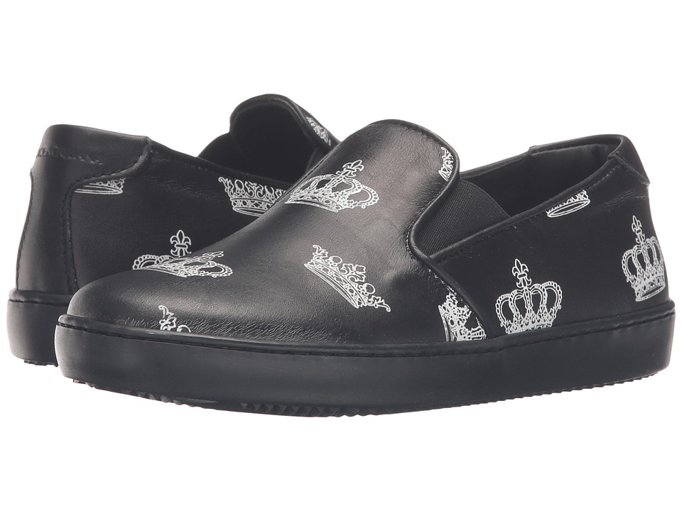 Dolce & Gabbana Kids - City Crown Slip-On Sneaker (Little Kid/Big Kid) (Black) Boy's Shoes