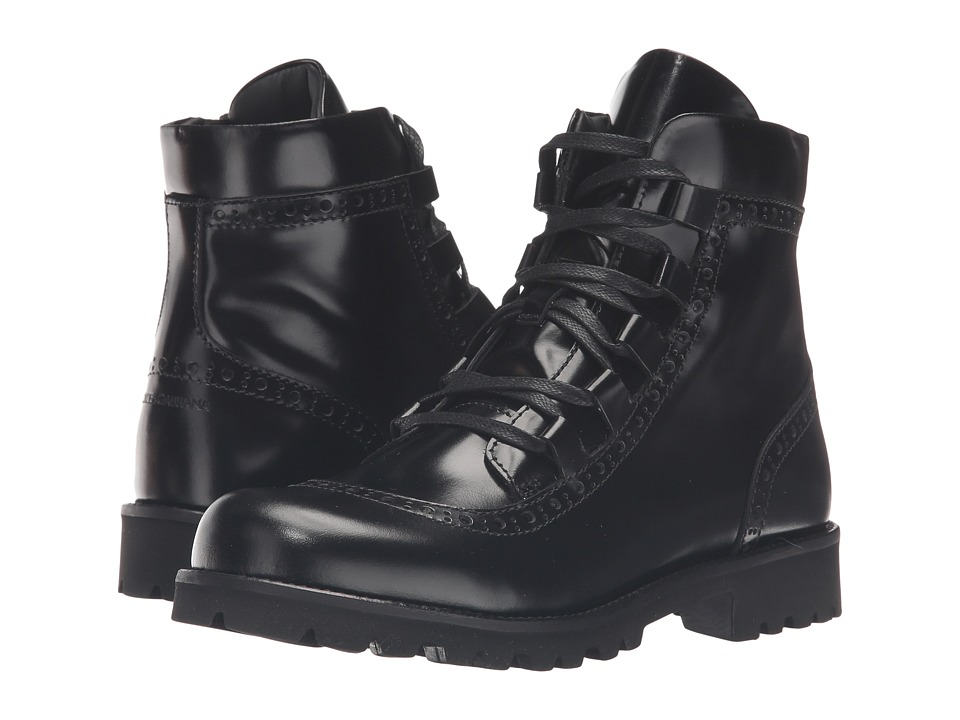 Dolce & Gabbana Kids - City Lace-Up Boot (Little Kid/Big Kid) (Black) Boys Shoes