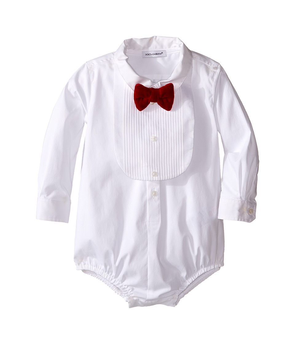 Dolce & Gabbana Kids - Formal Tuxedo One-Piece (Infant) (White) Boy's Jumpsuit & Rompers One Piece