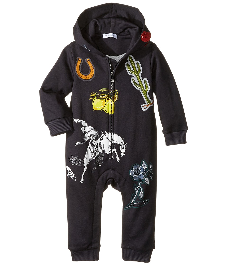 Dolce & Gabbana Kids - City Cavallo Western One-Piece (Infant) (Blue) Boy's Jumpsuit & Rompers One Piece