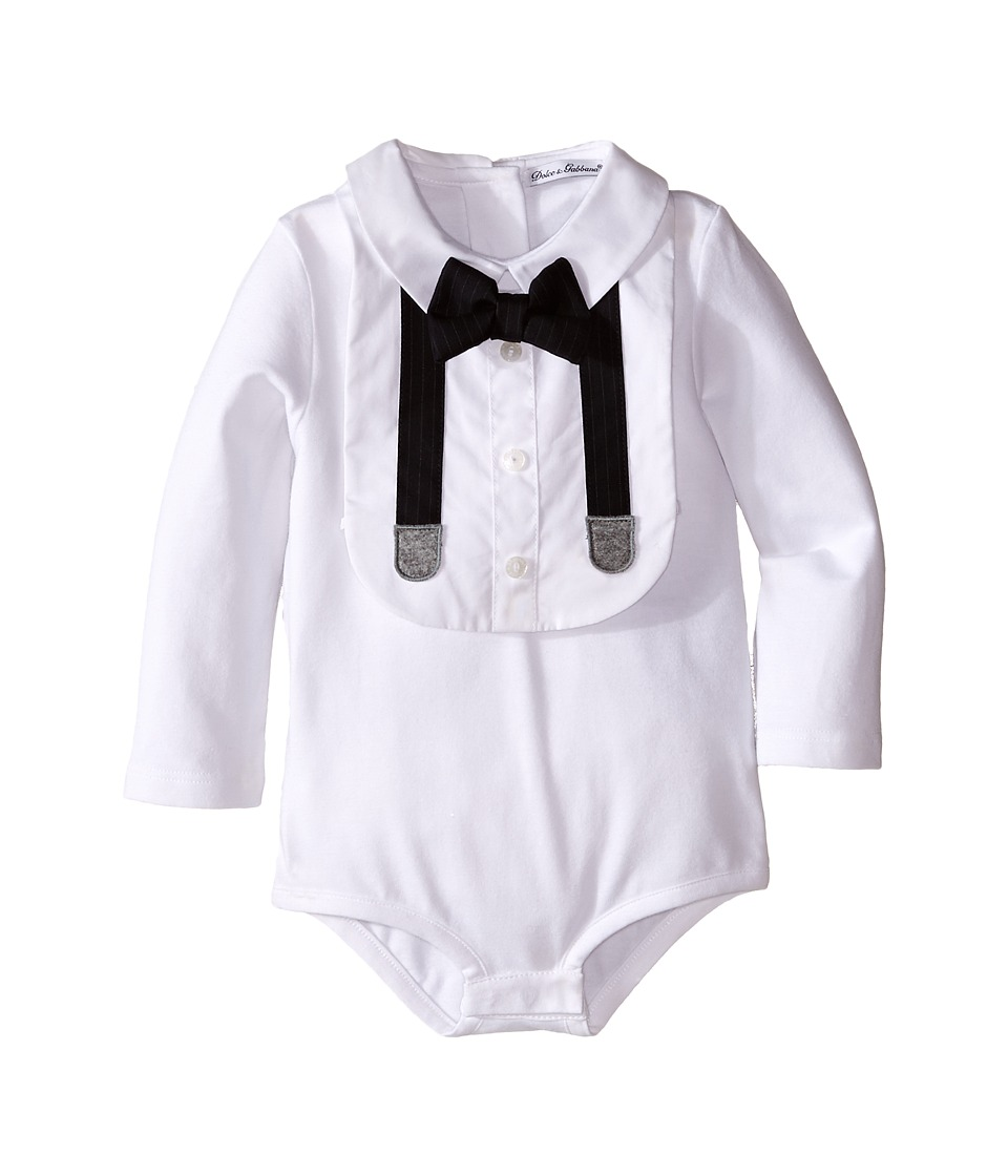 Dolce & Gabbana Kids - Formal Tuxedo Gift Set One-Piece (Infant) (White) Boy's Jumpsuit & Rompers One Piece