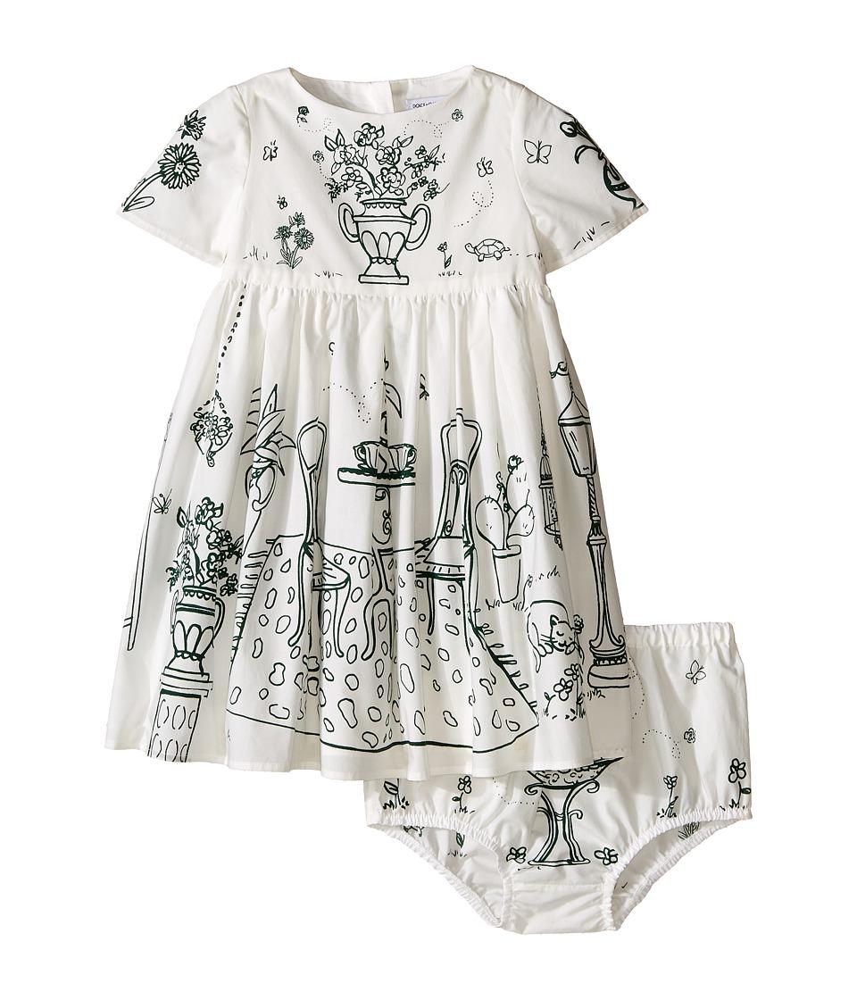 Dolce & Gabbana Kids - Botanical Garden Garden Print Dress (Infant) (White) Girl's Dress