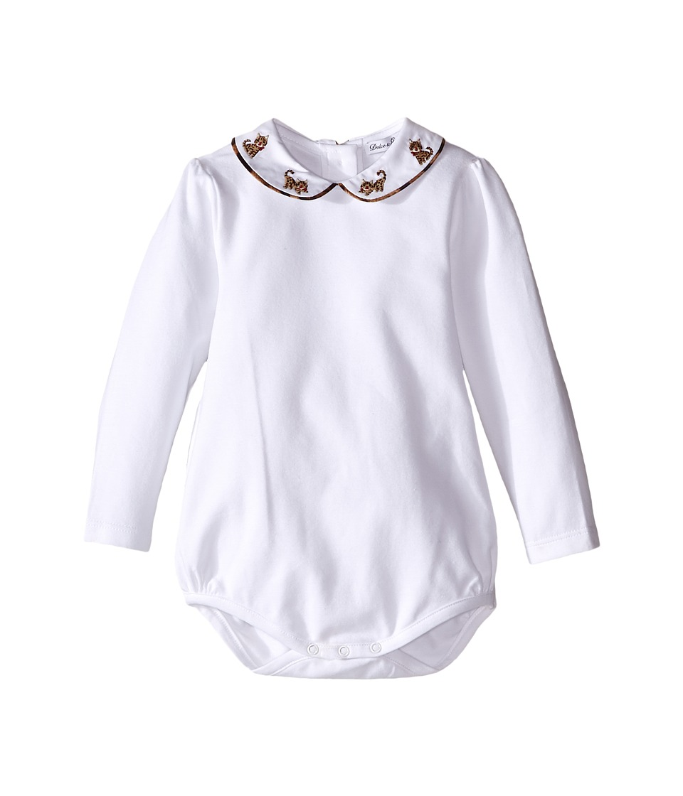 Dolce & Gabbana Kids - Zambia Collared One-Piece (Infant) (White) Girl's Jumpsuit & Rompers One Piece