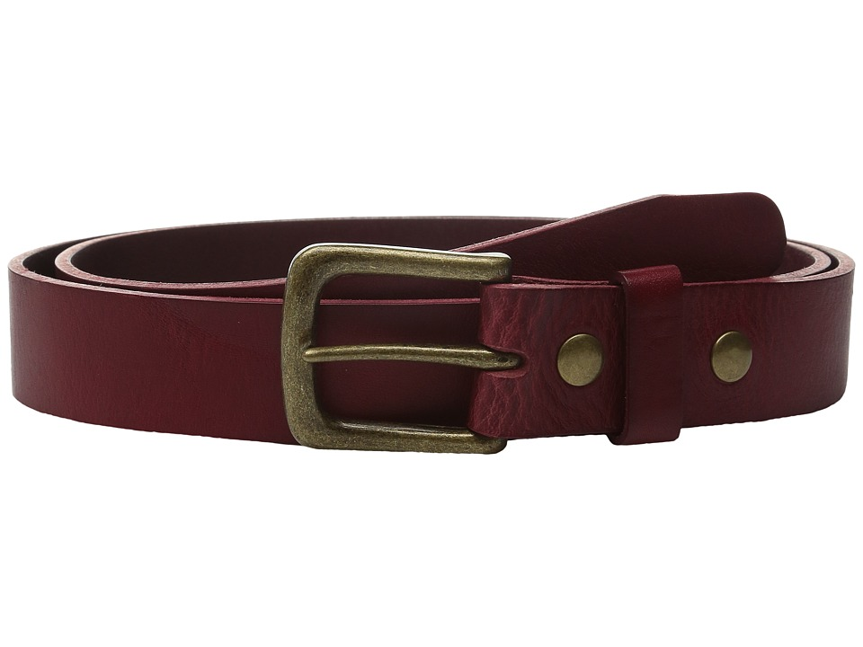 Will Leather Goods - 34mm Luxe Belt w/ Snap Closure (Red) Belts