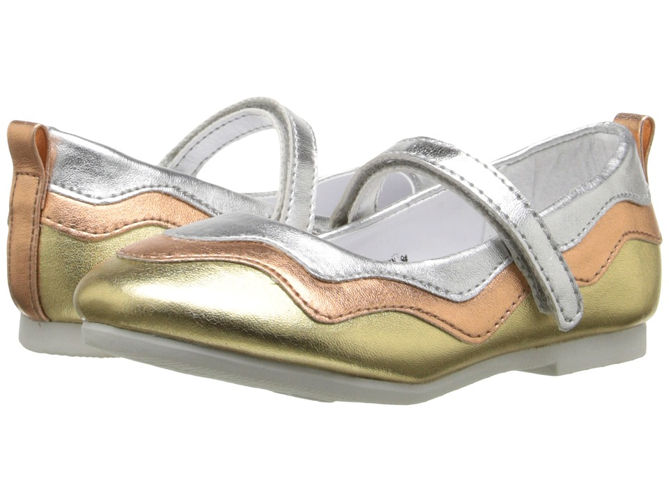 W6YZ - Evelyn (Toddler/Little Kid) (Silver/Multi) Girl's Shoes