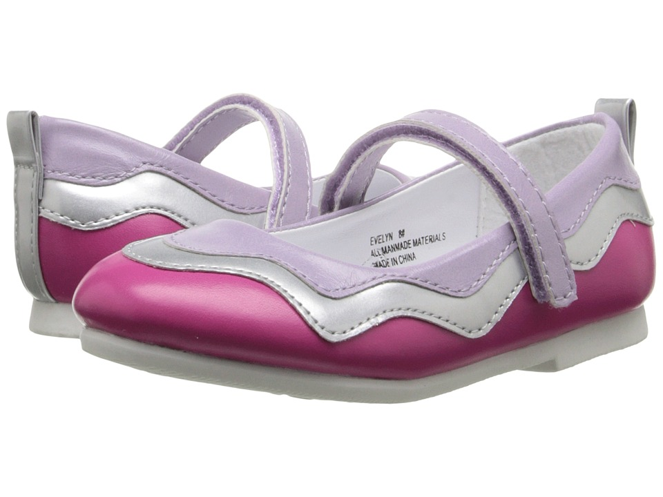 W6YZ - Evelyn (Toddler/Little Kid) (Fuchsia) Girl's Shoes