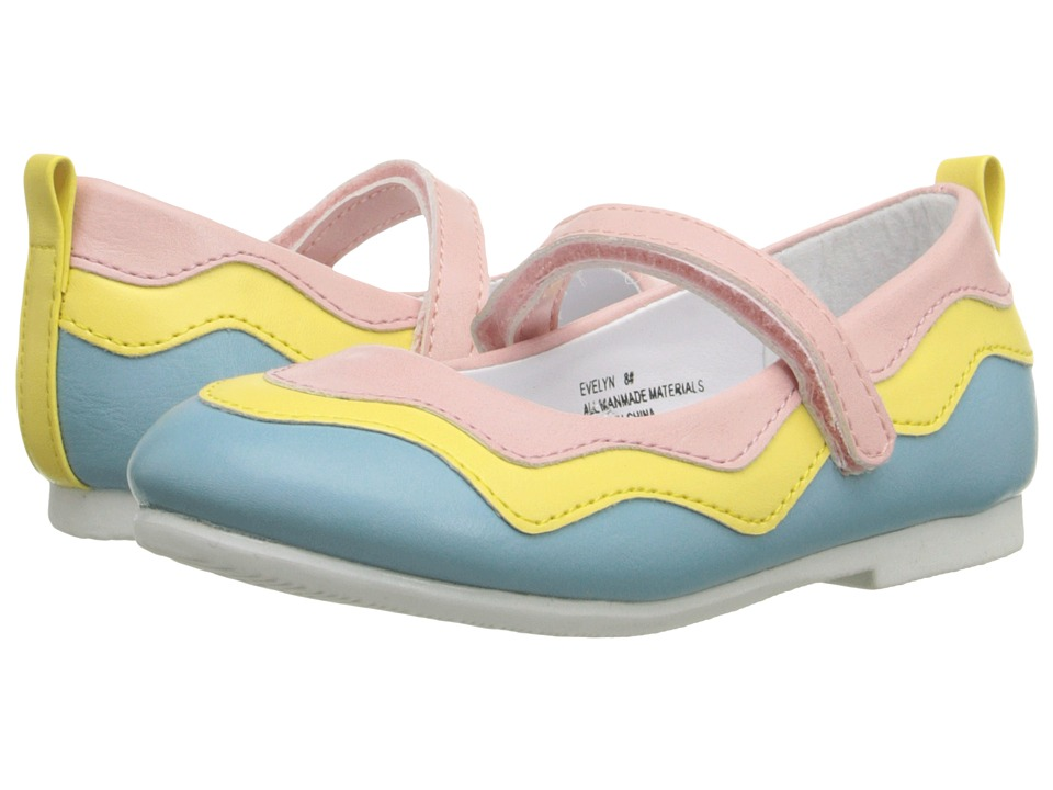 W6YZ - Evelyn (Toddler/Little Kid) (Pink/Multi) Girl's Shoes