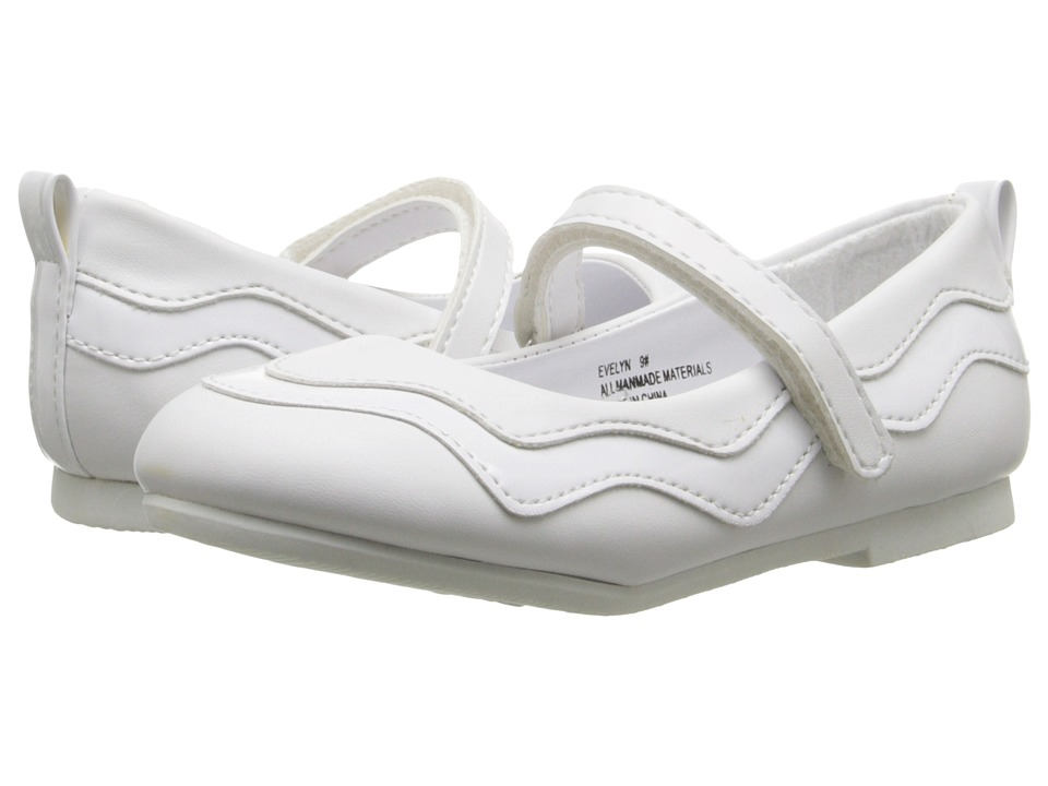 W6YZ - Evelyn (Toddler/Little Kid) (White) Girl's Shoes