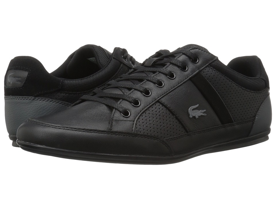 Lacoste - Chaymon 316 1 (Black/Dark Grey) Men's Shoes