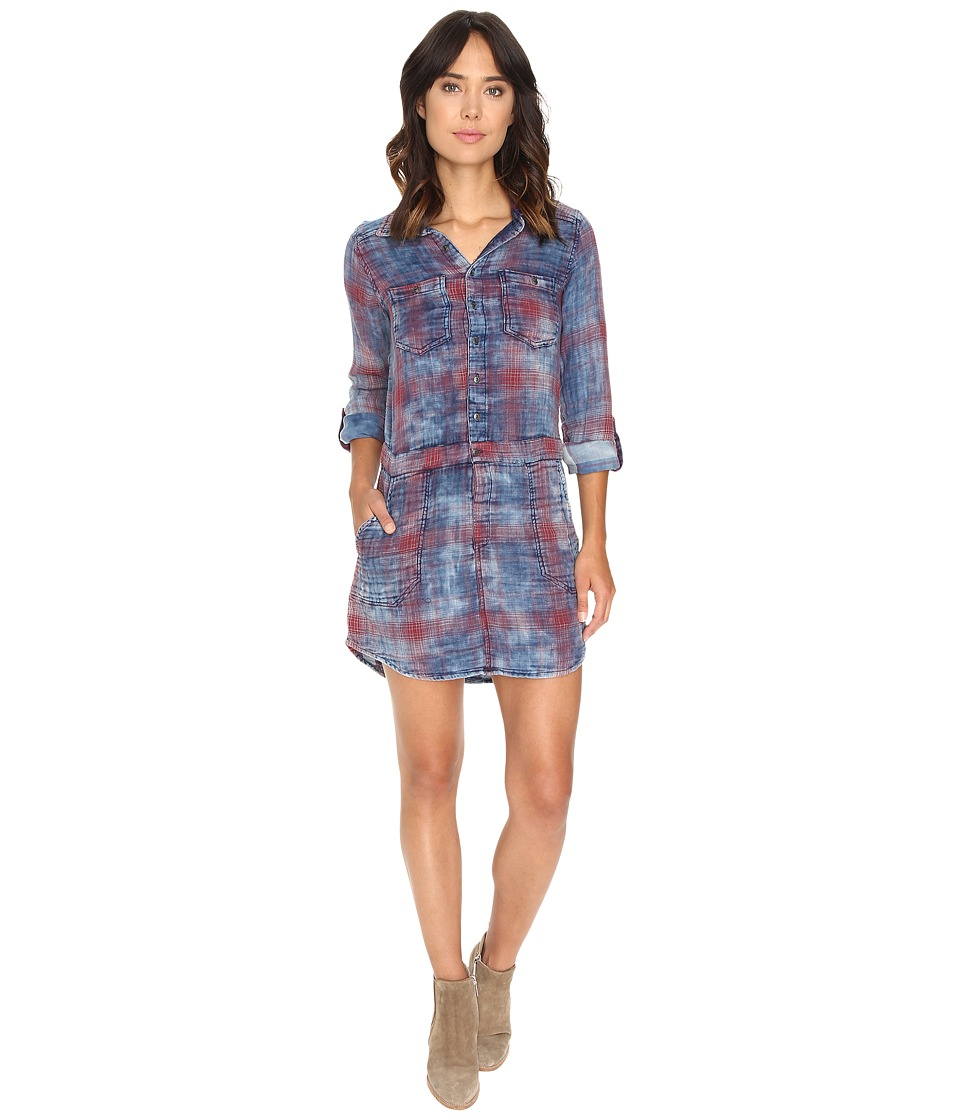 Blank NYC - Plaid Dress in Jitney (Blue/Red) Women's Dress