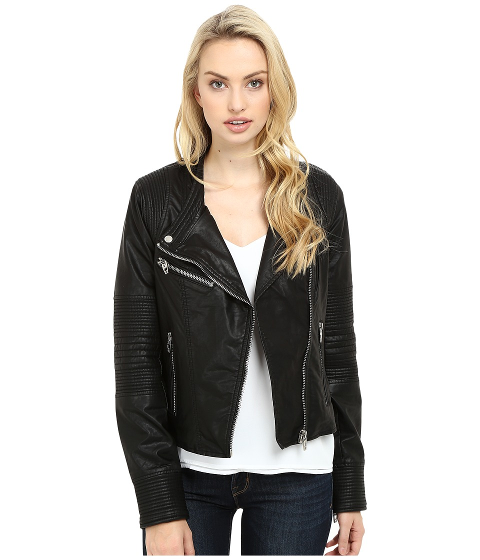 Blank NYC - Moto Jacket in Sleep Swiping (Black) Women's Coat
