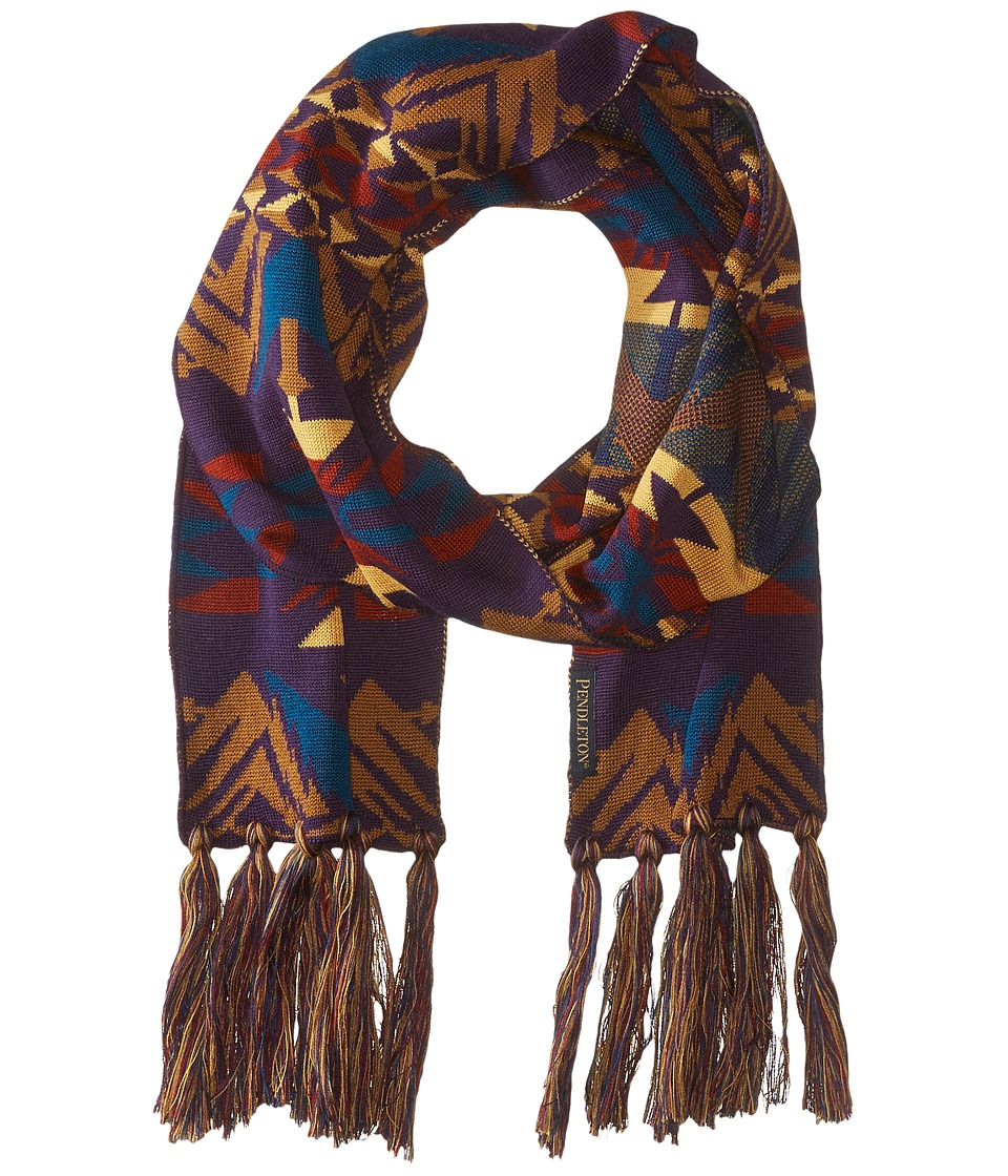 Pendleton - Long Fringe Scarf (Echo Peaks Purple) Scarves