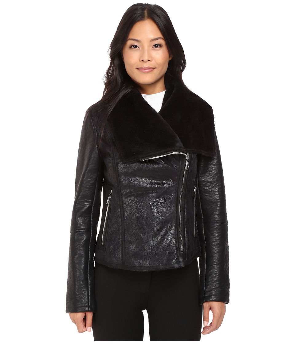 Blank NYC - Faux Shearling in Nap Champ (Black) Women's Clothing