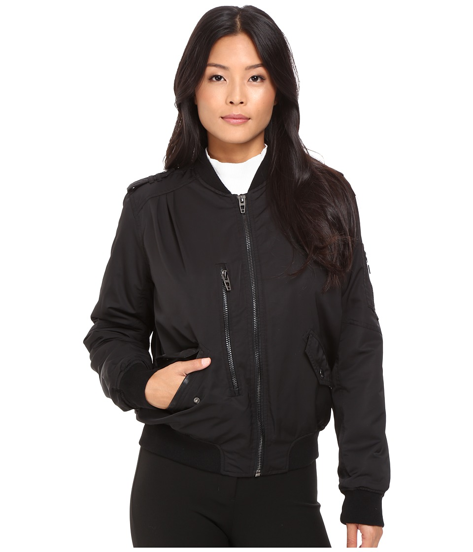 Blank NYC - Bomber Jacket in Commuter Sentence (Black) Women's Coat
