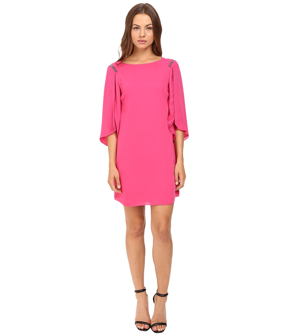 Halston Heritage - Flutter Sleeve Mini Dress (Begonia) Women's Dress