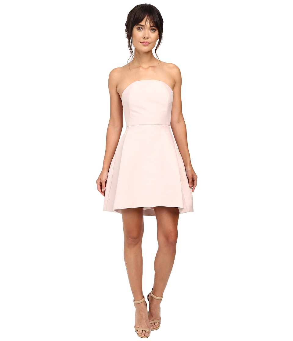 Halston Heritage - Strapless Structured Dress (Barely Pink) Women's Dress