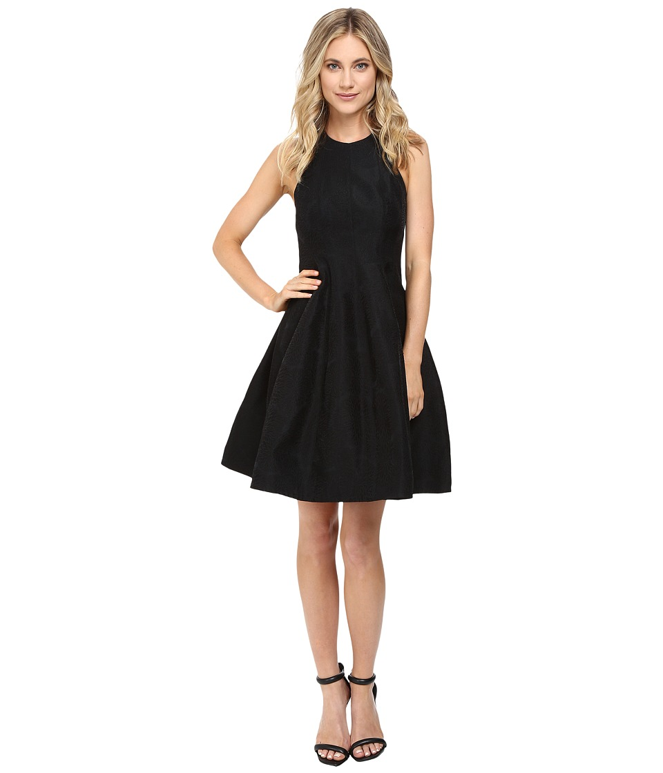 Halston Heritage - Jacquard Structure Dress (Black) Women's Dress