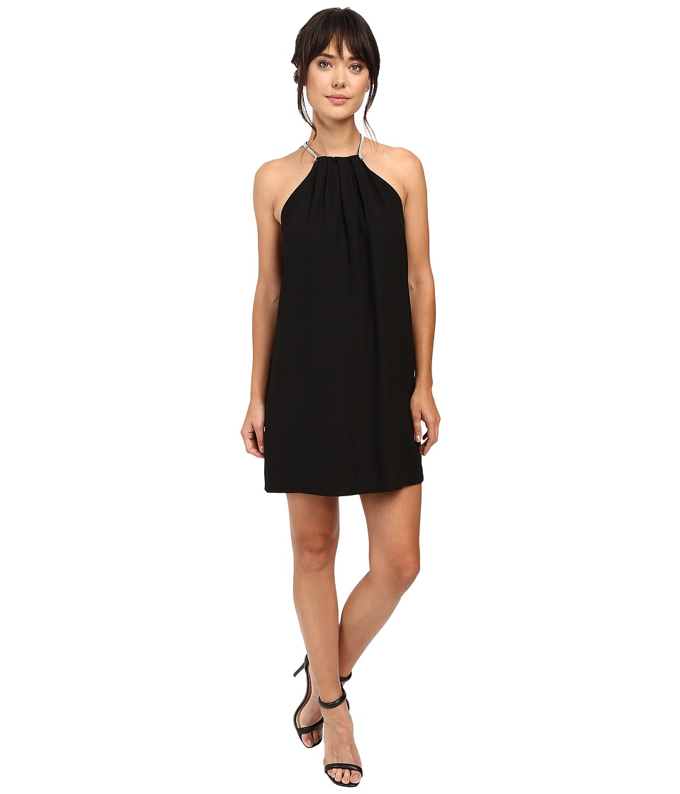 Halston Heritage - Multi Chain Back Cocktail Dress (Black) Women's Dress