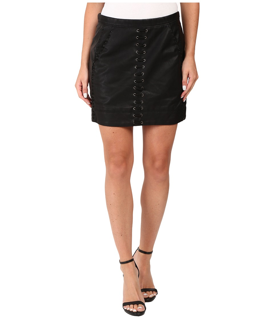 Blank NYC Vegan Leather Lace-Up Skirt in Boys Soul (Black) Women