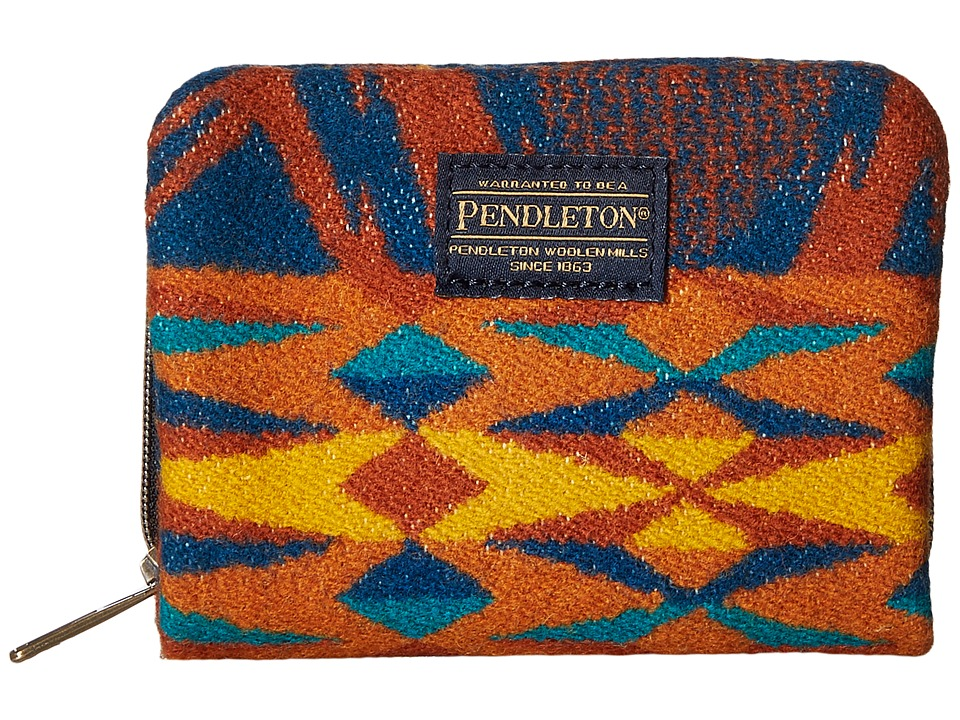 Pendleton - Mini Accordion Wallet (Echo Peaks Blue) Wallet Handbags