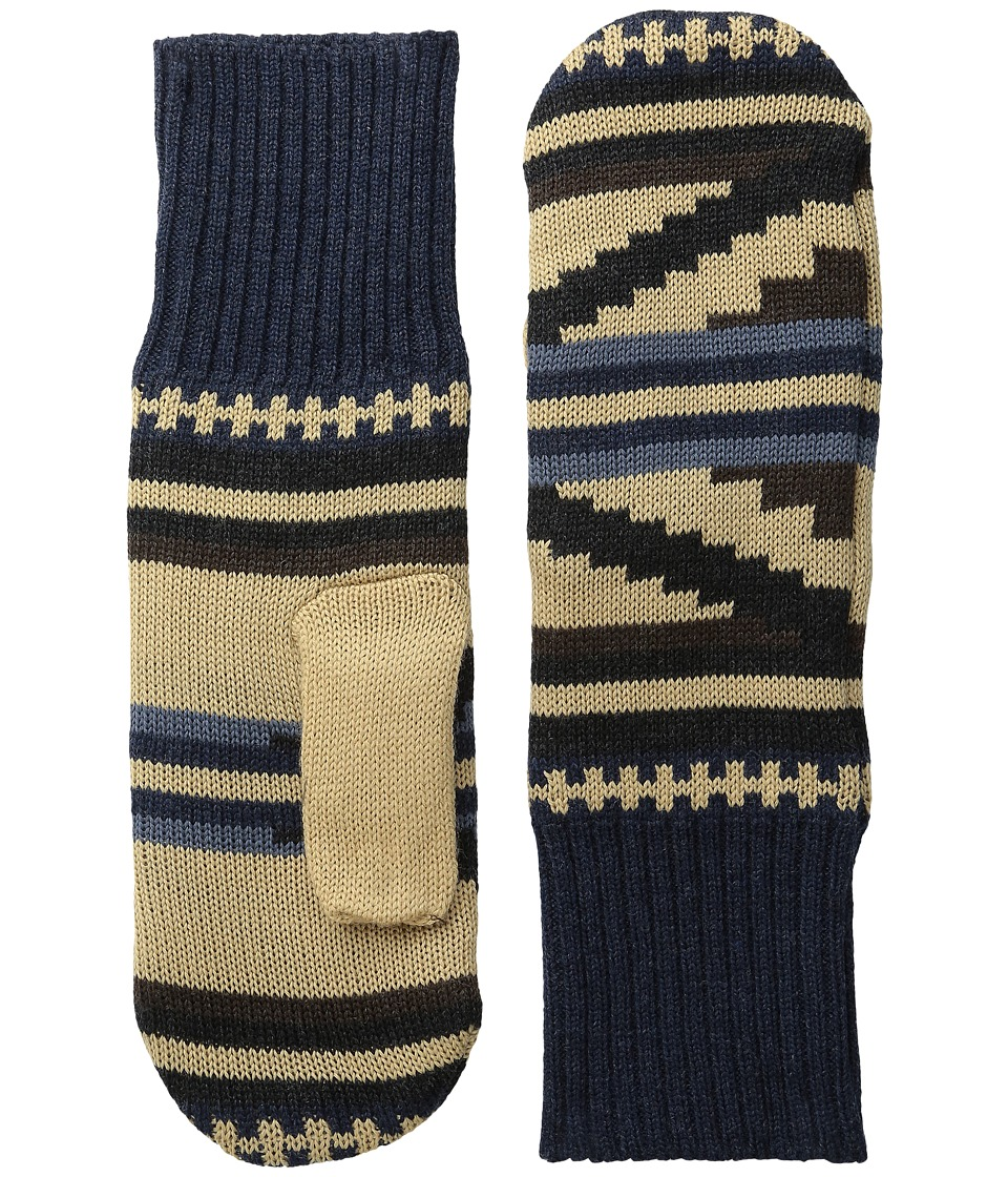 Pendleton Fleece Lined Mittens (Rio Canyon) Wool Gloves