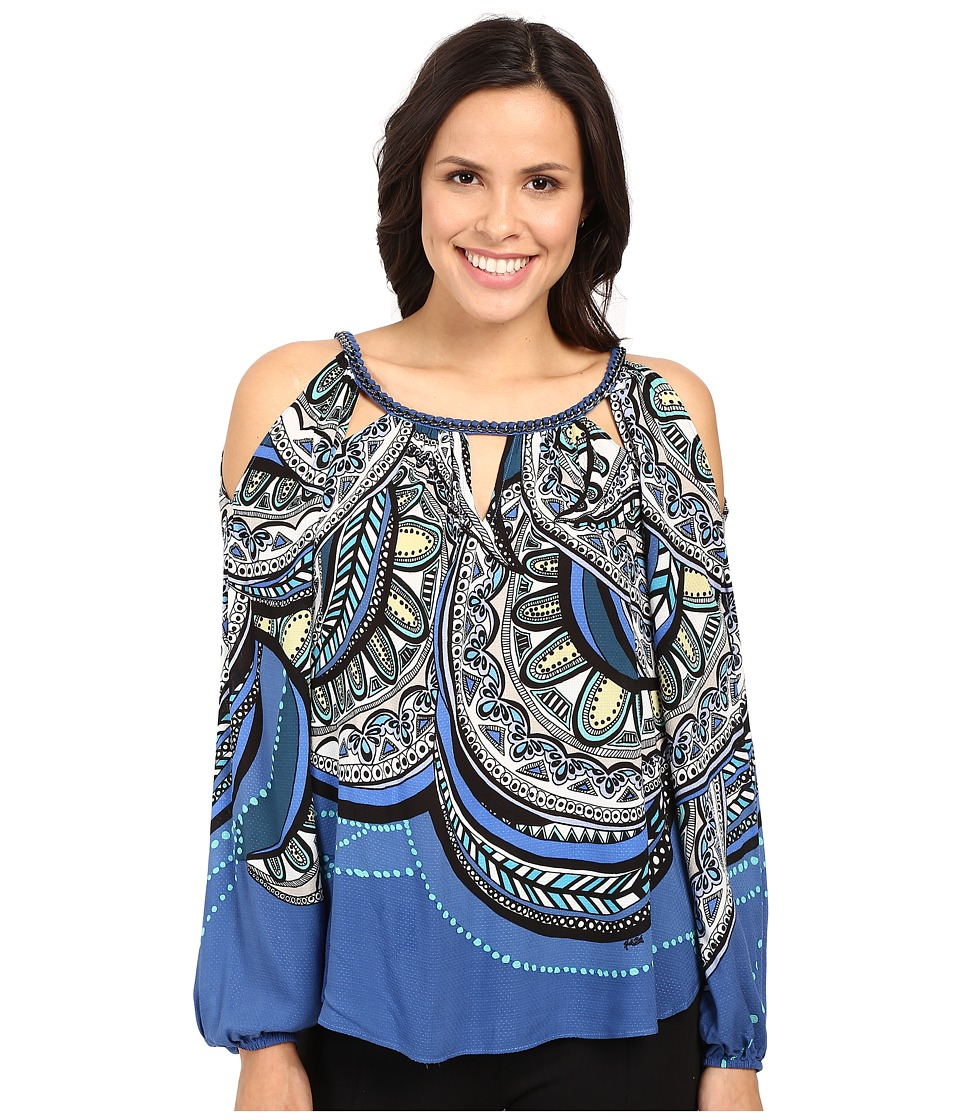 Hale Bob - Tiny Treasures Top (Blue) Women's Clothing