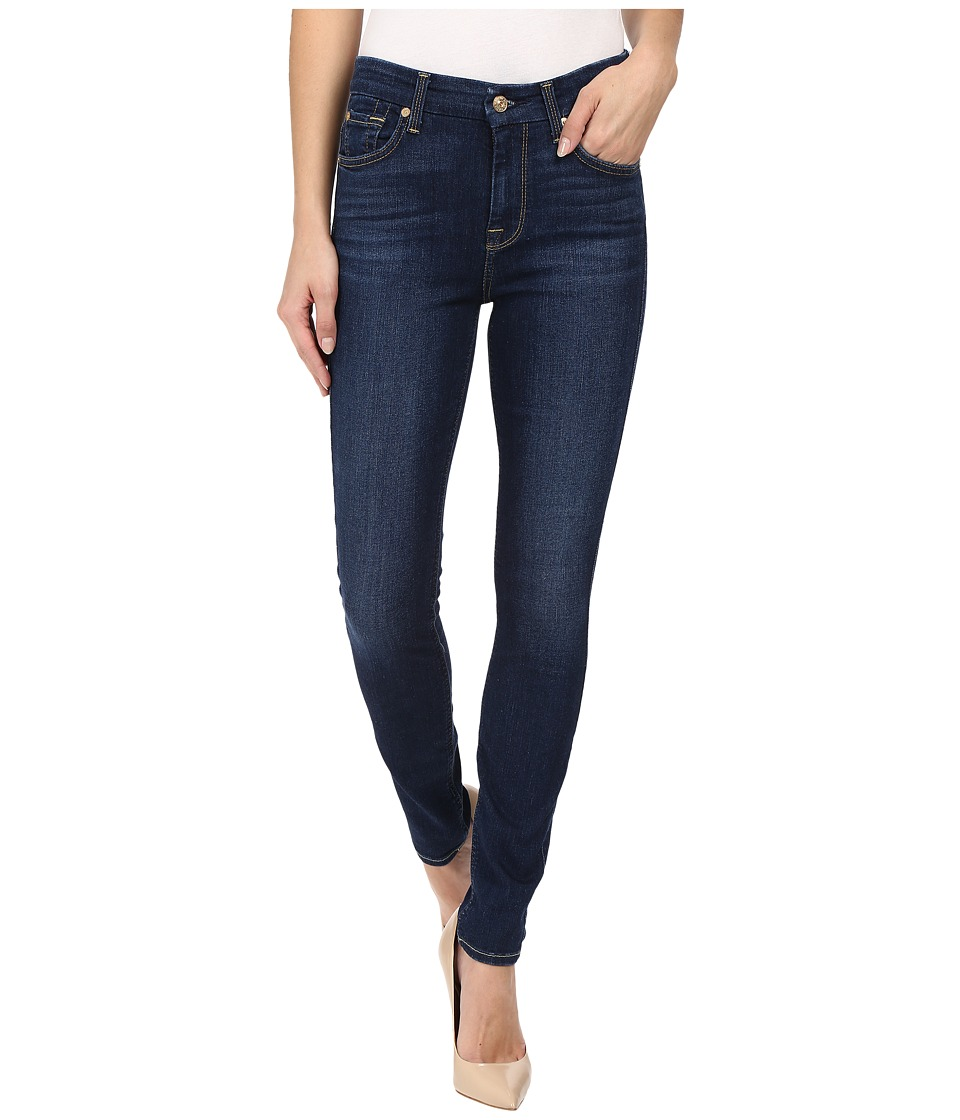 7 For All Mankind - The High Waist Skinny in Buckingham Blue (Buckingham Blue) Women's Jeans