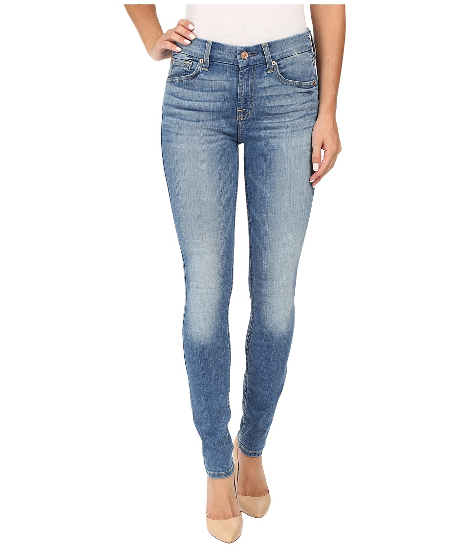 7 For All Mankind - The Skinny w/ Contour Waistband in Light Laurel (Light Laurel) Women's Jeans