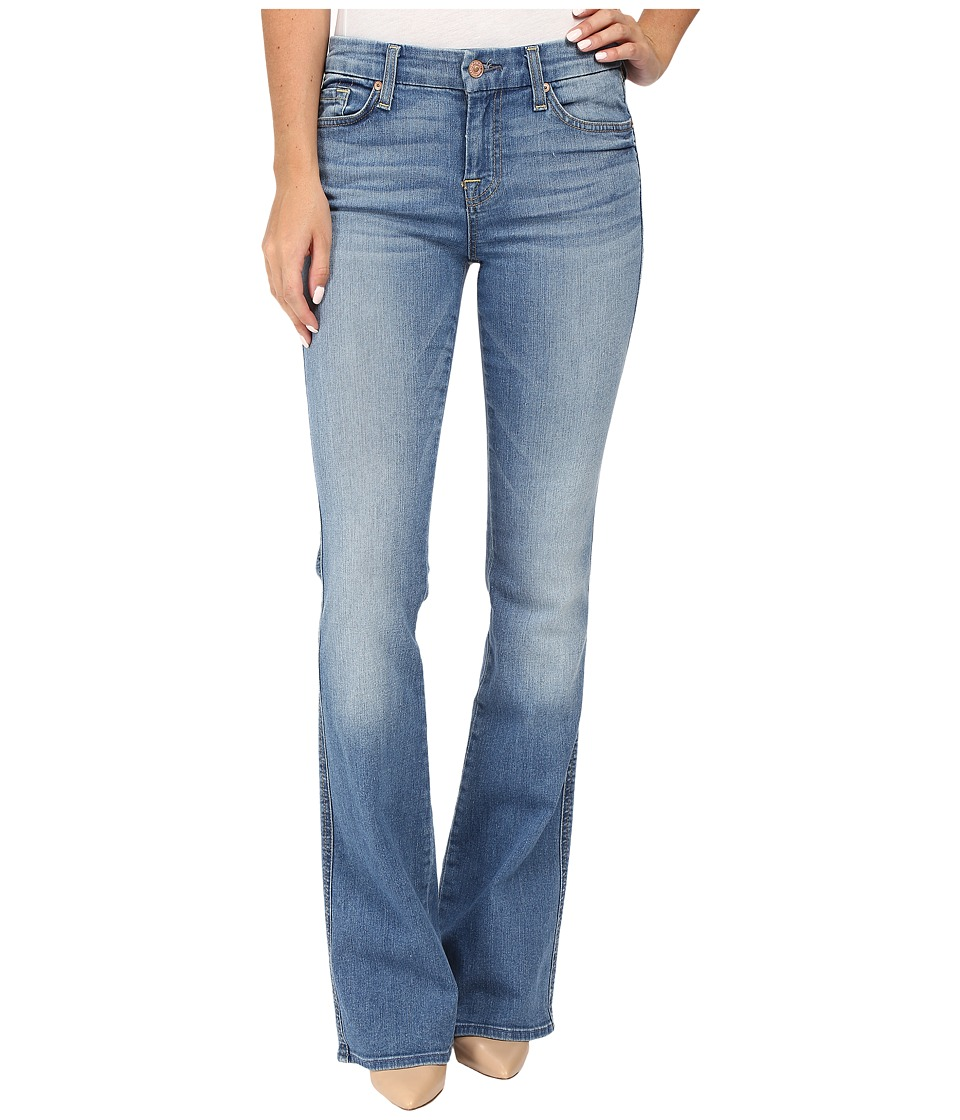 7 For All Mankind - A Pocket w/ Contrast A in Light Laurel (Light Laurel) Women's Jeans