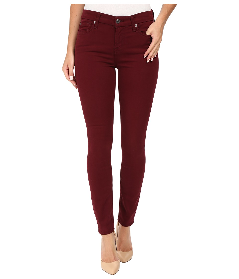 7 For All Mankind - The Ankle Skinny in Cranberry (Cranberry) Women's Jeans