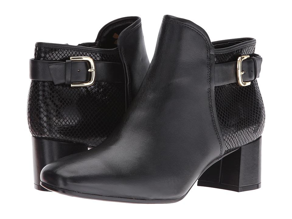 Naturalizer - Nailah (Black Leather/Snake) Women's Shoes