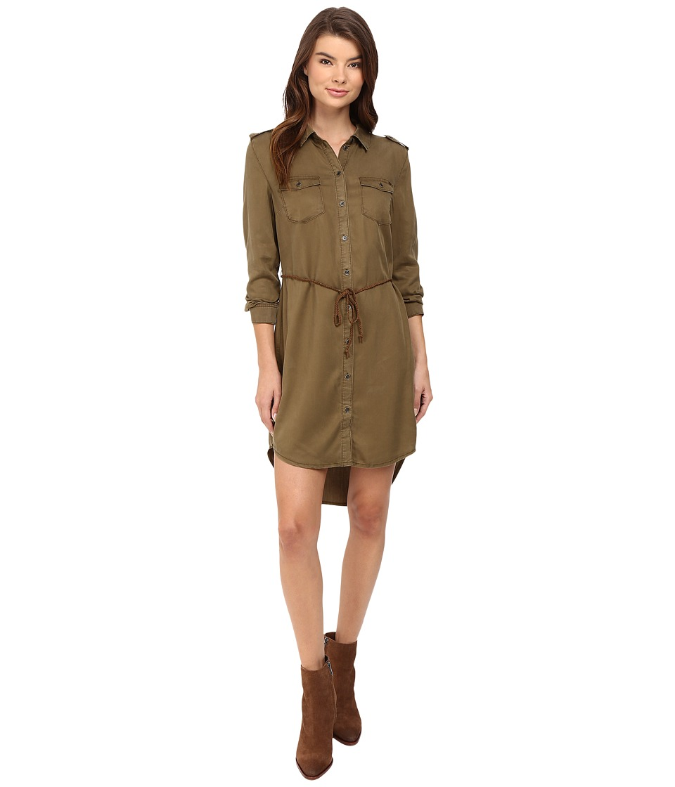 ONLY Arizona Lyocell Belt Dress (Military Olive) Women