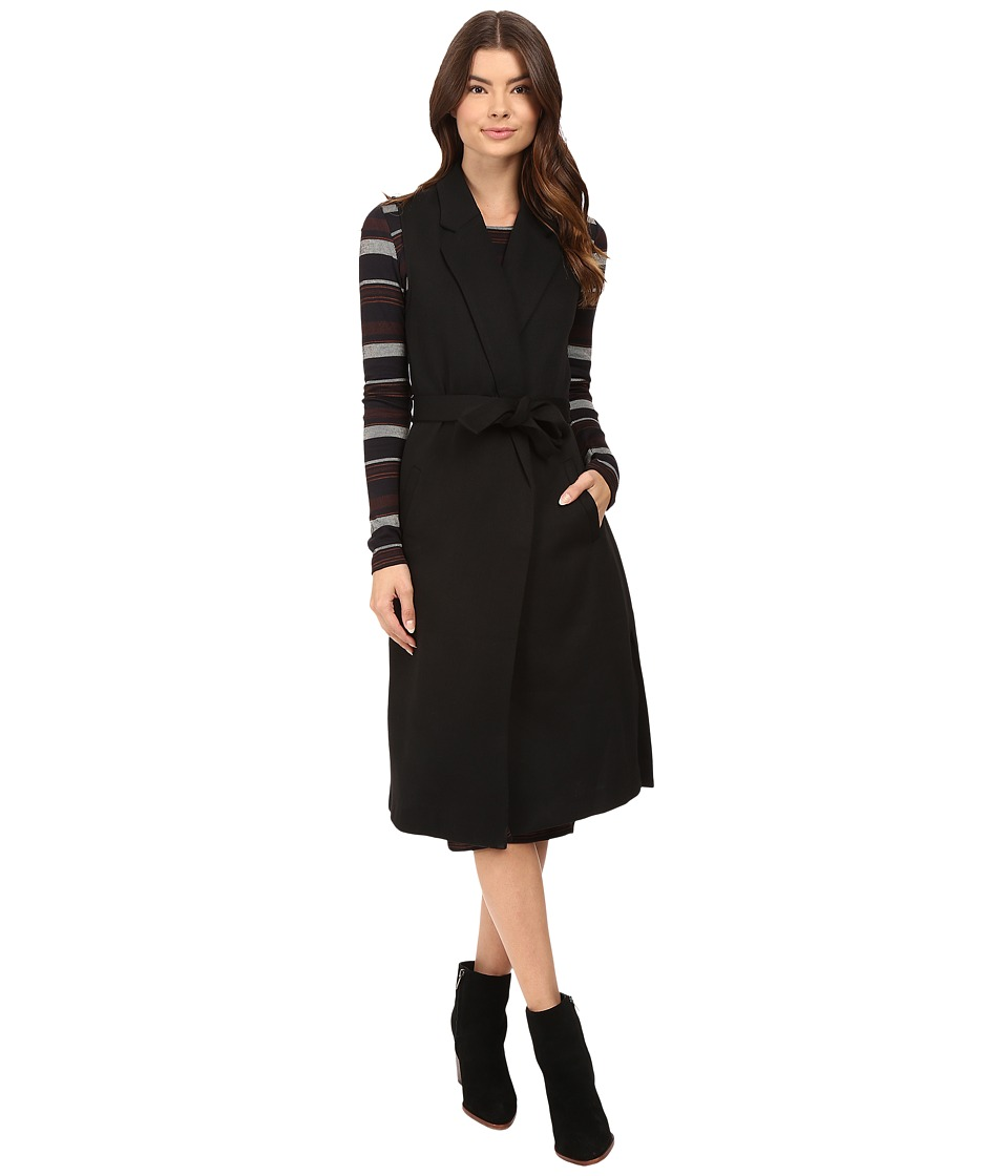 ONLY - Emmy Long Waistcoat (Black) Women's Coat